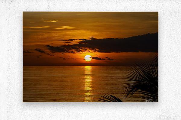 Sunrise at Cayman Kai  Metal print