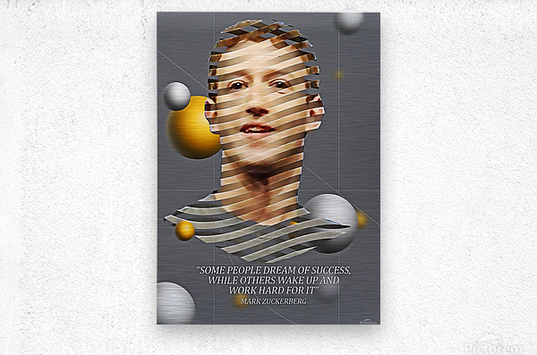 Mark Zuckerberg2  Metal print