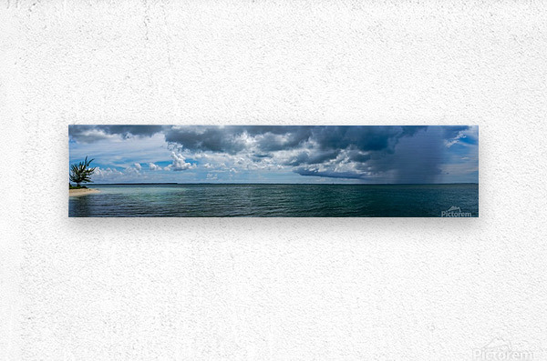 View of Georgetown  from Starfish Point in Grand Cayman  Metal print