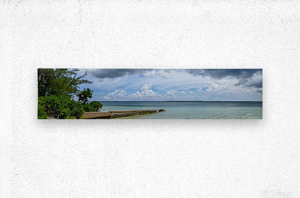 View of Georgetown from Starfish Point in Grand Cayman 2  Metal print