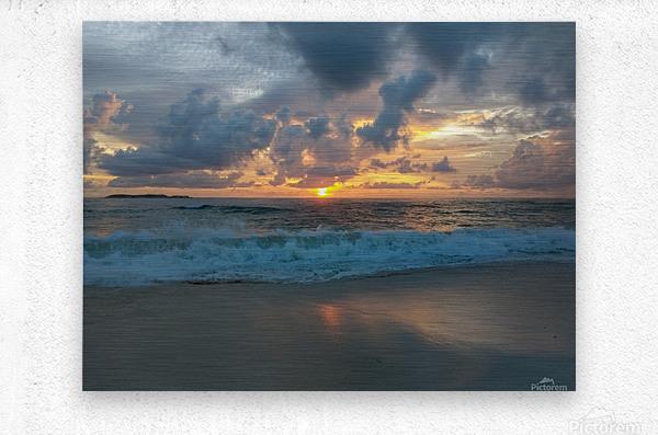 Eleuthera Morning on the beach  Metal print