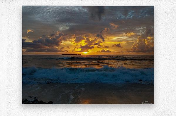 Eleuthera Sunrise splashdown  Metal print