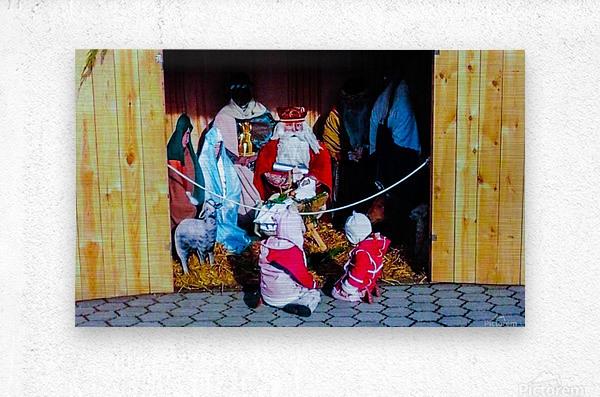 Hungarian Nativity Scene  Metal print