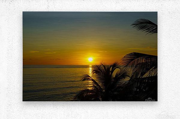 Caribbean Sunrise  Metal print