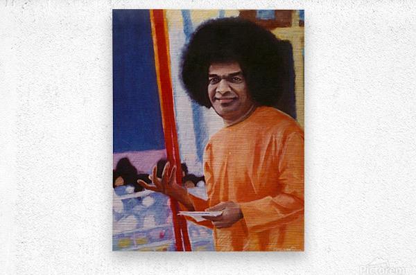Sathya Sai Baba  Metal print