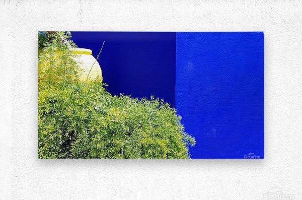 Marrakech on Blue Majorelle  Metal print