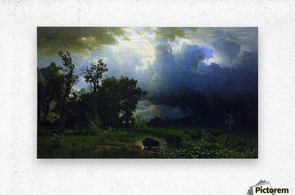Before the Storm by Bierstadt  Metal print