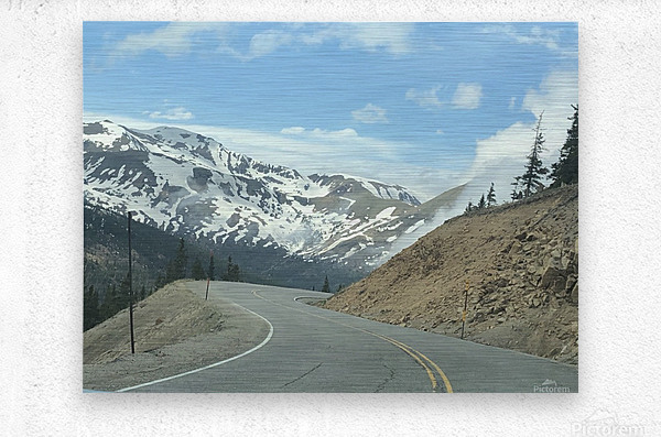 Old Country Road...Up In the Mountains  Metal print