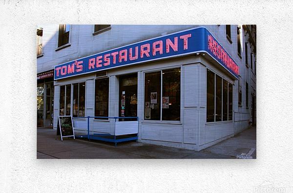 Toms Restaurant  Metal print
