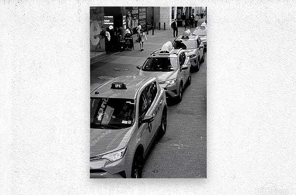 New York Taxis  Metal print
