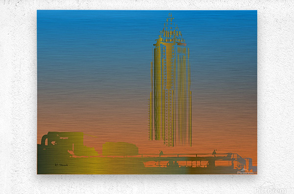 Abstract Skyscraper 1  Metal print