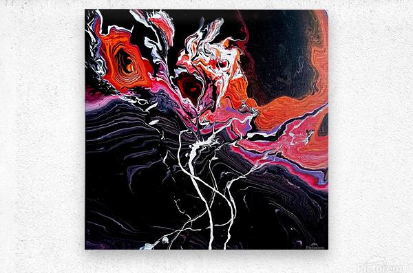 Hell garden  Metal print