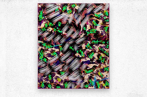 Icing on the Kaleidoscopic  Metal print