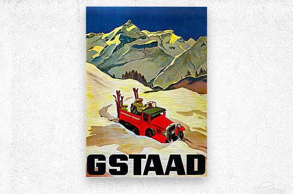 Vintage Travel - Gstaad  Metal print