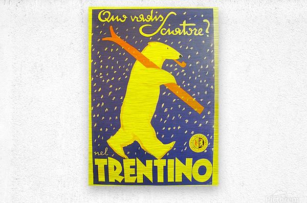Vintage Travel - Trentino  Metal print