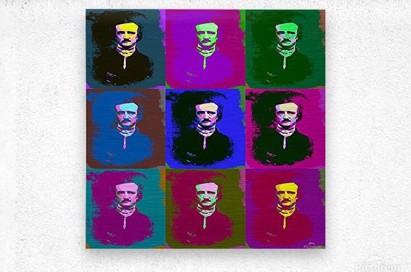 Edgar Allan Poe Pop Art  Metal print