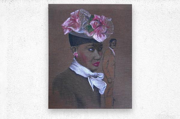 Admirer 1947 Easter Bonnet   Metal print