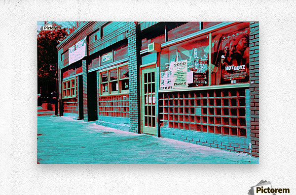 Atlanta Street Scene -- Turquoise  Metal print