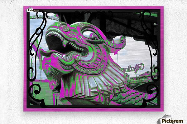 Carnival Creature in Purple & Green  Metal print