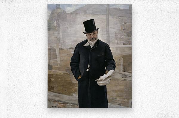 Portrait d Adolphe Alphand  Metal print