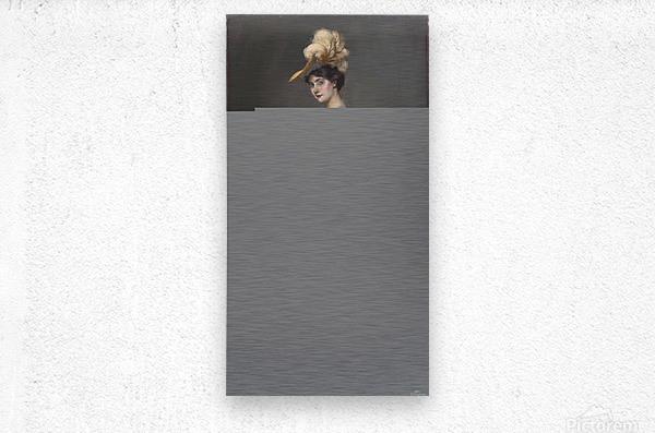 Portrait de madame Rene Prejelan  Metal print