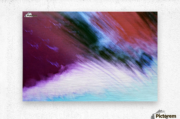 Water fall abstraction  Metal print