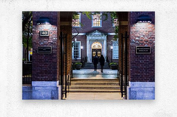 New York University School of Law  Vanderbilt Hall  Metal print