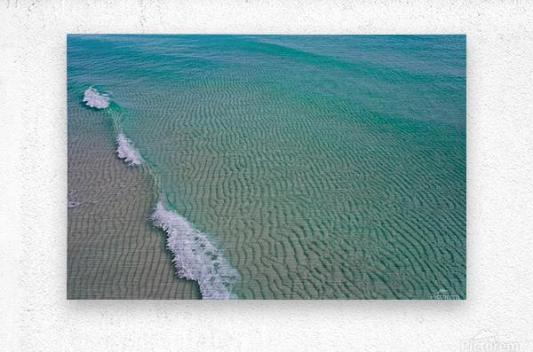 Clear Beach   Metal print