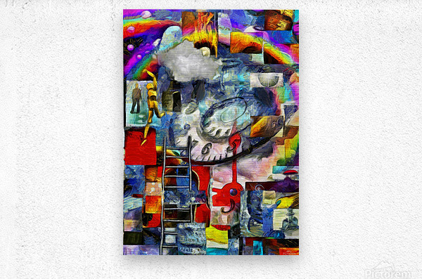 Elements of Human Consciousness  Metal print