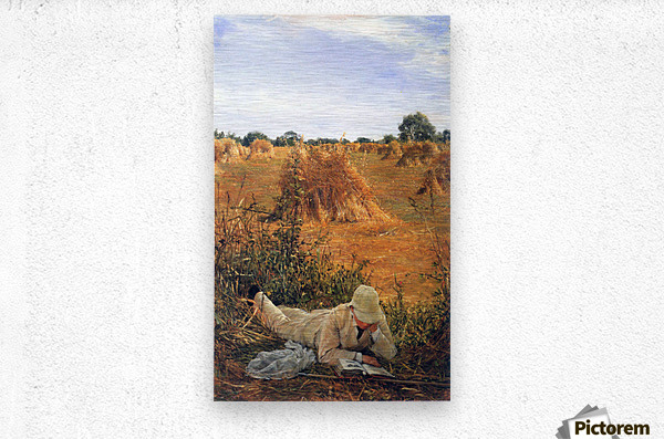 94 degrees in the shade by Alma-Tadema  Metal print