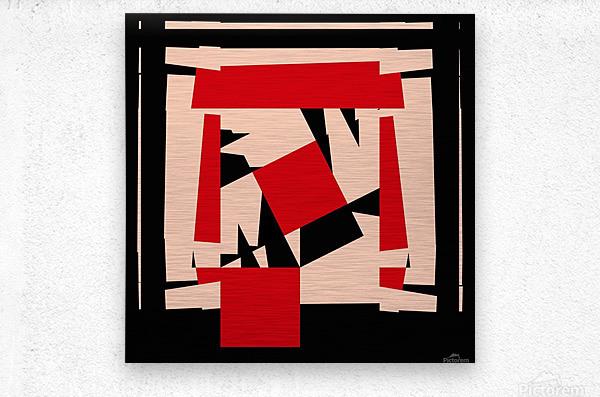 Juggling_Piet_Mondrian  Metal print