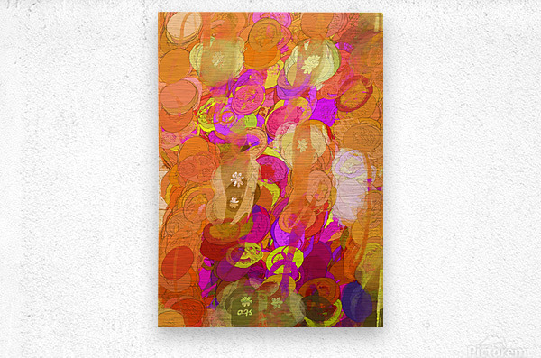 Pink and orange  Metal print