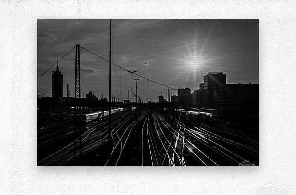 German Rails  Metal print