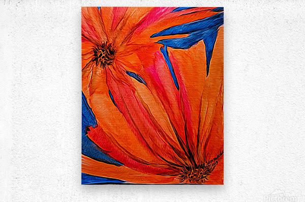 Orange Flowers   Metal print