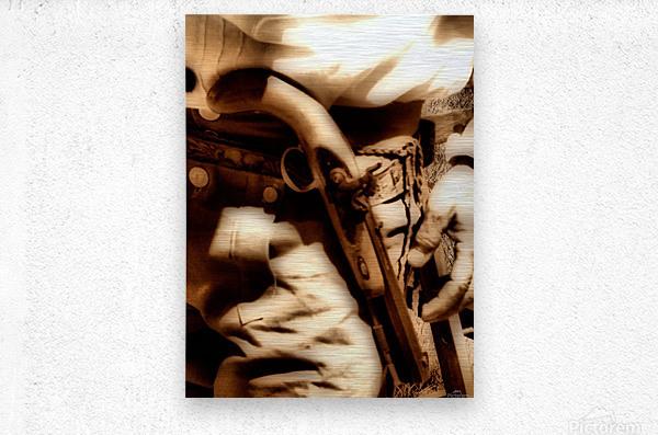 U.S. Civil War Gun and Holster   Metal print