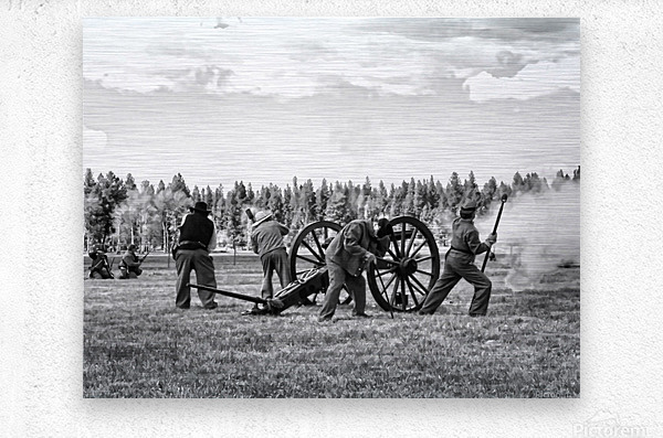 U. S. Civil War Re-enactment  Metal print