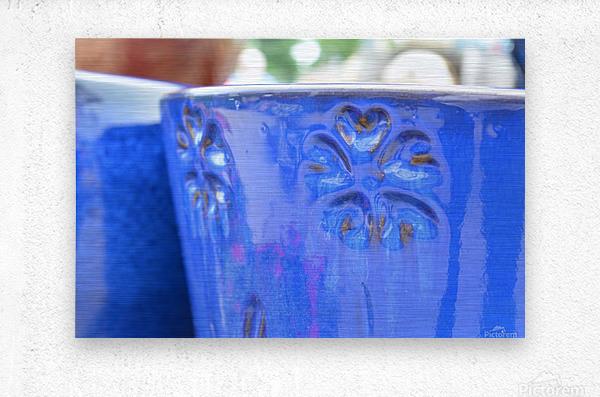 Beautiful Pottery Photograph  Metal print