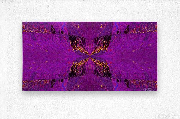 Butterfly in Crystal 37  Metal print