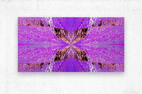 Butterfly in Crystal 49  Metal print