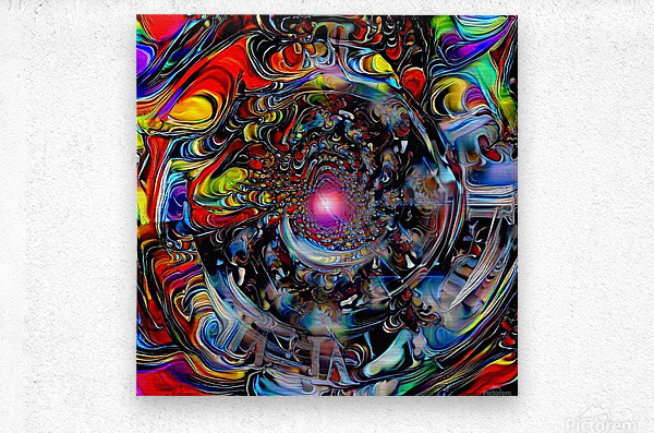 Colors of Time  Metal print