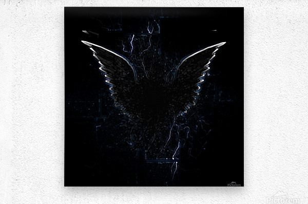 Outline of Winged Creature  Metal print