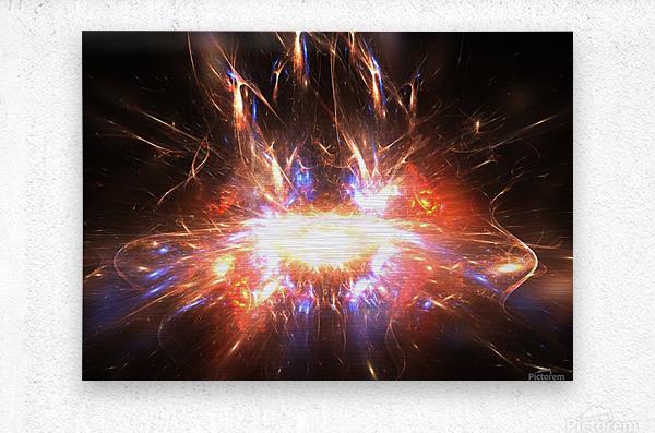 Angry galaxy e  Metal print