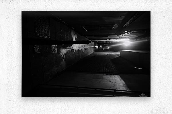 Dark alley  Metal print