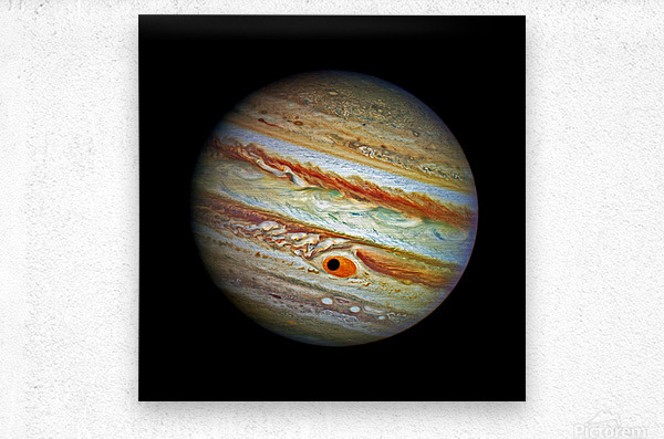Jupiter with Ganymede Outer Space Image  Metal print