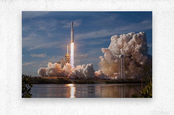 Falcon Heavy Demo Mission 020118  Metal print