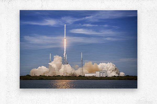 Falcon 9 Lifts Off from Space Launch Complex 40  Metal print