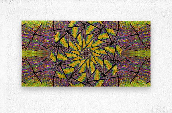 Green Dahlia 3  Metal print