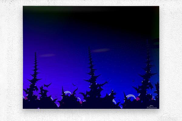 Noche_Azul  Metal print