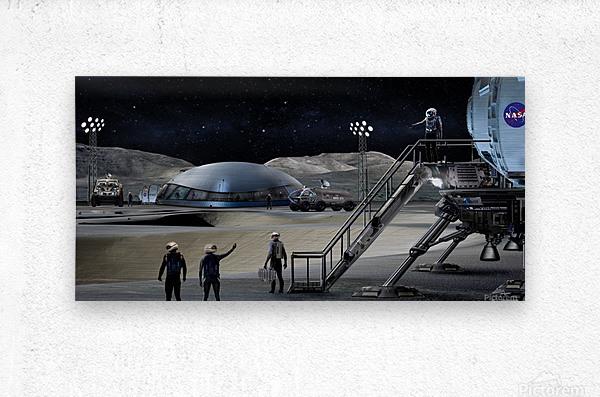 Moon Base 2  Metal print