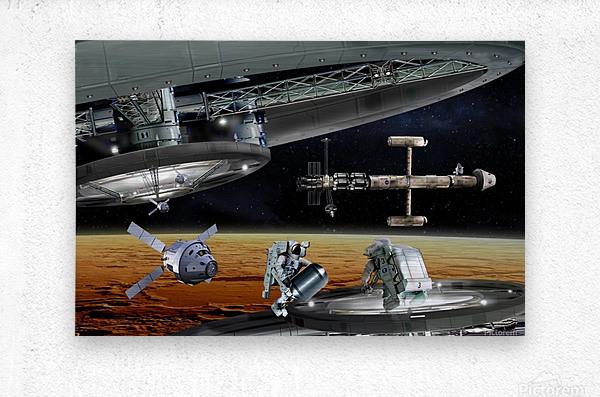 Mars Project 4  Metal print